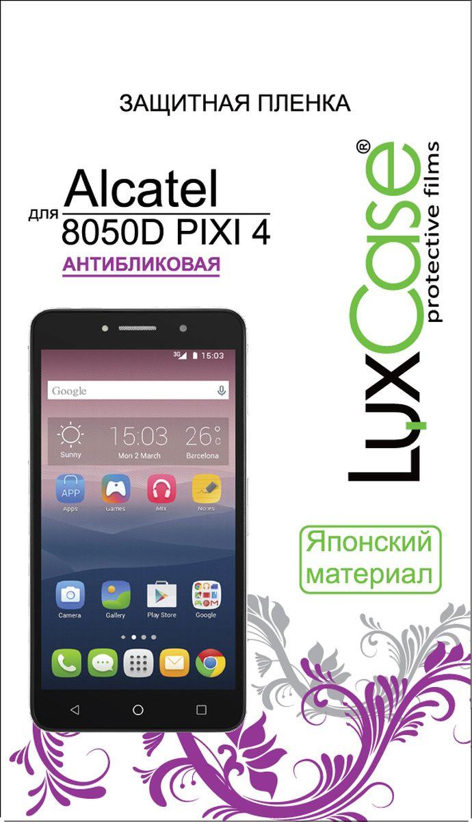 LuxCase защитная пленка для Alcatel 8050D Pixi 4, антибликовая51367Защитная пленка Luxcase для Alcatel 8050D Pixi 4 сохраняет экран смартфона гладким и предотвращает появление на нем царапин и потертостей. Структура пленки позволяет ей плотно удерживаться без помощи клеевых составов и выравнивать поверхность при небольших механических воздействиях. Пленка практически незаметна на экране смартфона и сохраняет все характеристики цветопередачи и чувствительности сенсора.