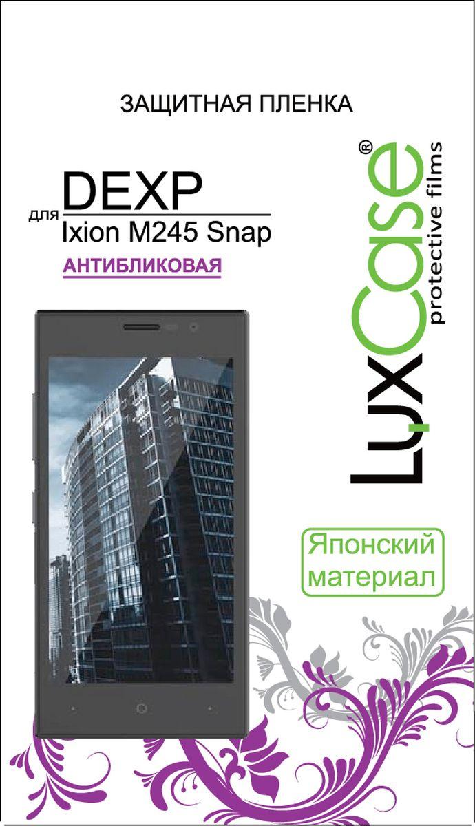 LuxCase защитная пленка для DEXP Ixion M245 Snap, антибликовая55343Защитная пленка Luxcase обеспечивает надежную защиту сенсорного экрана смартфона от большинства механических повреждений и сохраняет первоначальный вид устройства, его цветопередачу и управляемость. В случае падения пленка амортизирует удар, позволяя сохранить экран целым и избежать дорогостоящего ремонта. Пленка обладает особой структурой, которая держится на экране без клея и сохраняет его чистым после удаления.