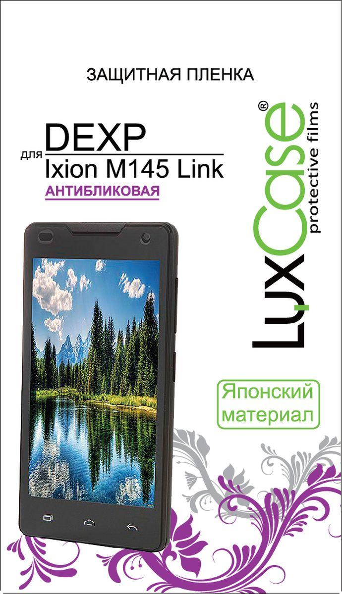 LuxCase защитная пленка для DEXP Ixion M145 Link, антибликовая55344Защитное стекло Luxcase обеспечивает надежную защиту сенсорного экрана смартфона от большинства механических повреждений и сохраняет первоначальный вид устройства, его цветопередачу и управляемость. В случае падения стекло амортизирует удар, позволяя сохранить экран целым и избежать дорогостоящего ремонта. Стекло обладает особой структурой, которая держится на экране без клея и сохраняет его чистым после удаления.