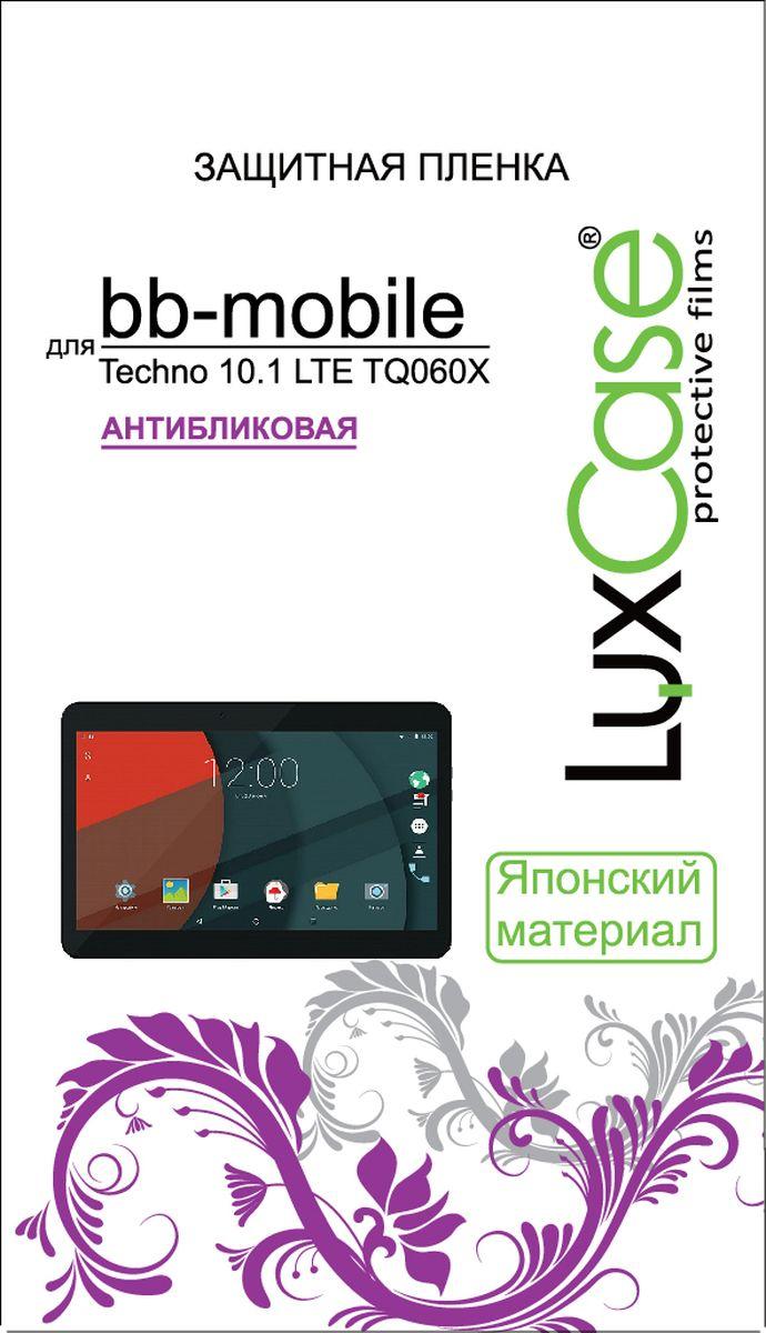 LuxCase защитная пленка для BB-mobile Techno 10.1 LTE TQ060X, антибликовая55460Защитное стекло Luxcase обеспечивает надежную защиту сенсорного экрана смартфона от большинства механических повреждений и сохраняет первоначальный вид устройства, его цветопередачу и управляемость. В случае падения стекло амортизирует удар, позволяя сохранить экран целым и избежать дорогостоящего ремонта. Стекло обладает особой структурой, которая держится на экране без клея и сохраняет его чистым после удаления.