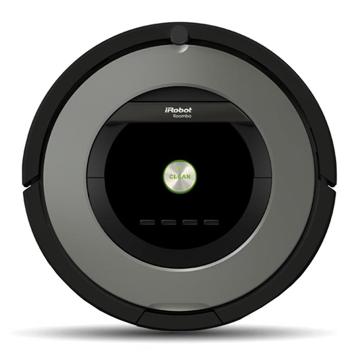 iRobot Roomba 865, Grey робот-пылесосR865Революционная система уборки, дизайн в стиле техно и при этом самое простое управление – это Roomba 865. Новая система сбора мусора без использования щетинистой щетки – самое легкое обслуживание. Отличные результаты уборки на коврах и ковровых покрытиях. Новая мощная система всасывания в сочетание с Hepa-фильтром обеспечивает сбор мельчайших частиц грязи и пыли, а с ними и аллергенов (на заметку владельцам домашних животных). Просто нажмите на кнопку CLEAN – робот почистит полы совершенно самостоятельно. Хотите наладить уборку по расписанию на 7 дней недели? – пожалуйста, для Roomba 865 это не проблема. Только лишь время от времени удаляйте собранный мусор. А при желании вы можете доукомплектовать ваш Roomba 865 ограничителями движения и инфра-красным пультом дистанционного управления. Roomba 865 с инновационной системой сбора мусора и грязи AeroForceTM , которая сочетает сразу 2 технологические находки: Вместо традиционных щетинистых щеток используются резиновые валики с...