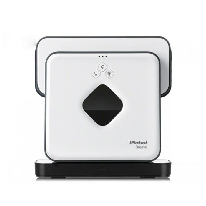 iRobot Braava 390T, White робот-пылесосB390tBraava плюс турбо-зарядная база. Робот для деликатной сухой и влажной уборки полов. Был разработан специально для ежедневного ухода за полами с твердым покрытием: Сегодня мы рады предложить Вам новый продукт компании iRobot – робота Braava 390T для деликатной влажной и сухой уборки полов. Устройство предназначено для уборки полов всех видов твердых напольных покрытий, таких как паркет, ламинат, плитка, камень, пробка, линолеум и другие. Появление этой модели особенно оценят владельцы помещений с деревянными полами и полами из ламината, в которых требуется ежедневная ( или время от времени) влажная уборка. Ведь Braava 390T, в отличие от Scooba, не разбрызгивает по поверхности пола моющий раствор, а протирает полы лишь слегка влажной салфеткой. Конечно, Braava 390T осуществляет и сухую уборку: собирает с пола пыль. Для уборки вы можете использовать многоразовые салфетки из микрофибры, которые предлагает iRrobot, а также одноразовые или многоразовые салфетки, имеющиеся в...