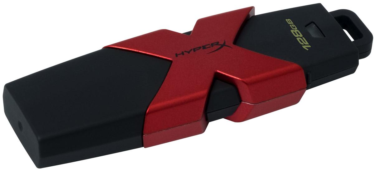 Kingston HyperX Savage 128GB USB-накопительHXS3/128GBKingston HyperX Savage - это стильный накопитель с элегантным черным корпусом и фирменным логотипом HyperX в агрессивном красном цвете. Он предназначен для использования с различными платформами и игровыми консолями, включая PS4, PS3, Xbox One и Xbox 360. USB-накопитель HyperX Savage обеспечивают высокую скорость работы (до 350 Мб/с) для экономии времени во время передачи файлов и позволяют быстро открывать, изменять и переносить файлы с накопителя без снижения производительности. Благодаря большой емкости, у вас будет достаточно места для хранения больших файлов (фильмов, фотографий с высоким разрешением, музыки и т.д.). Устройство соответствует спецификациям USB 3.1 Gen 1, поэтому вы сможете воспользоваться всеми преимуществами портов USB 3.1 в настольных компьютерах и ноутбуках, а также обратной совместимостью с USB 3.0 и USB 2.0.