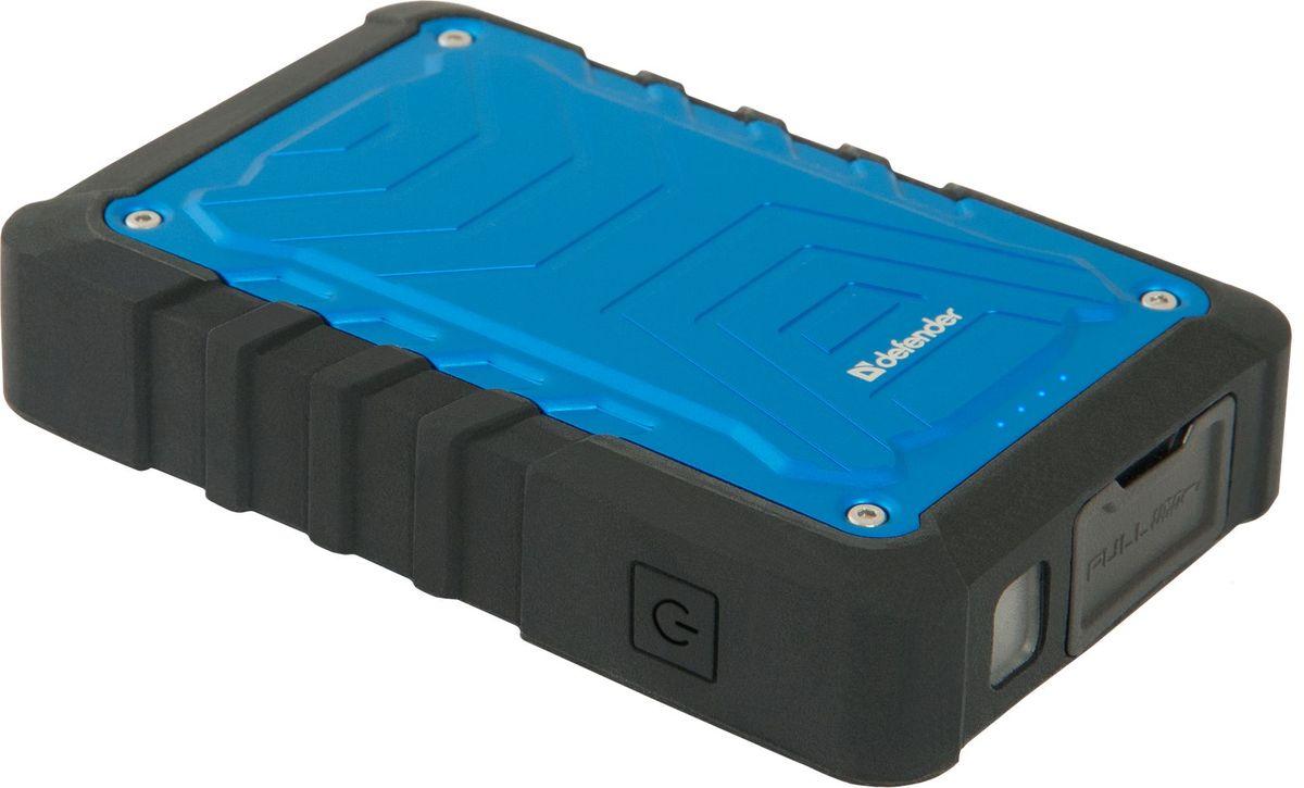 Defender ExtraLife Discovery внешний аккумулятор (10400 мАч)83624Универсальный внешний аккумулятор Defender ExtraLife Discovery совместим с большинством мобильных устройств. Корпус устройства защищен от пыли и воды по стандарту IP65 (полная защита от пыли и водяных струй в любом направлении). Скоба позволяет надежно закрепить аккумулятор на обмундировании туриста. Два USB-порта позволят вам заряжать два устройства одновременно. Защита от перегрузки и короткого замыкания помогает обезопасить заряжаемое устройство в случае возникновения каких-либо проблем при зарядке. Defender ExtraLife Discovery разработан специально для питания и заряда современных энергоемких USB-совместимых устройств, таких как сотовые телефоны и смартфоны, планшеты, гаджеты и портативная электроника. Емкость аккумулятора составляет 10400 мАч.
