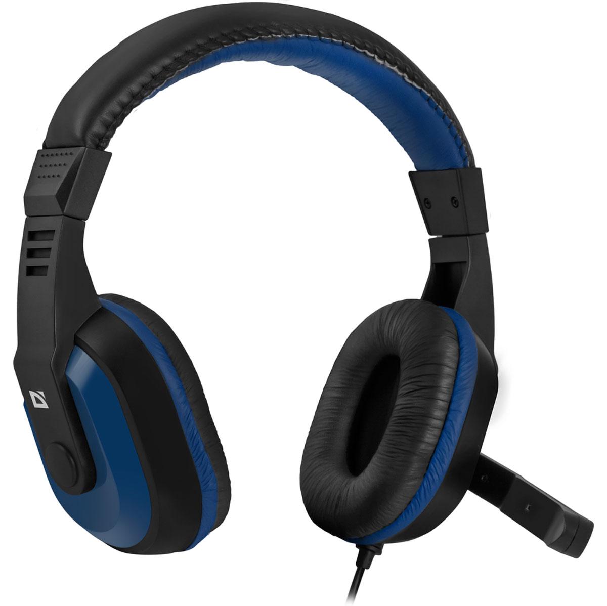 Defender Warhead G-190, Blue Black игровая гарнитура64116Игровая гарнитура Defender Warhead G-190 предназначена для компьютеров нового поколения, использующих комбинированный четырехпиновый разъем для наушников и микрофона. Наушники закрытого типа с большими 40 мм динамиками гарантируют мощный чистый звук. На кабеле гарнитуры удобно расположен регулятор громкости. Благодаря надежной звукоизоляции и комфортным амбюшурам вы сможете играть или слушать музыку с комфортом - ничто не будет вам мешать! Частотный диапазон микрофона: 20 Гц - 16 кГц Сопротивление микрофона: 2,2 кОма Чувствительность микрофона: 54 дБ