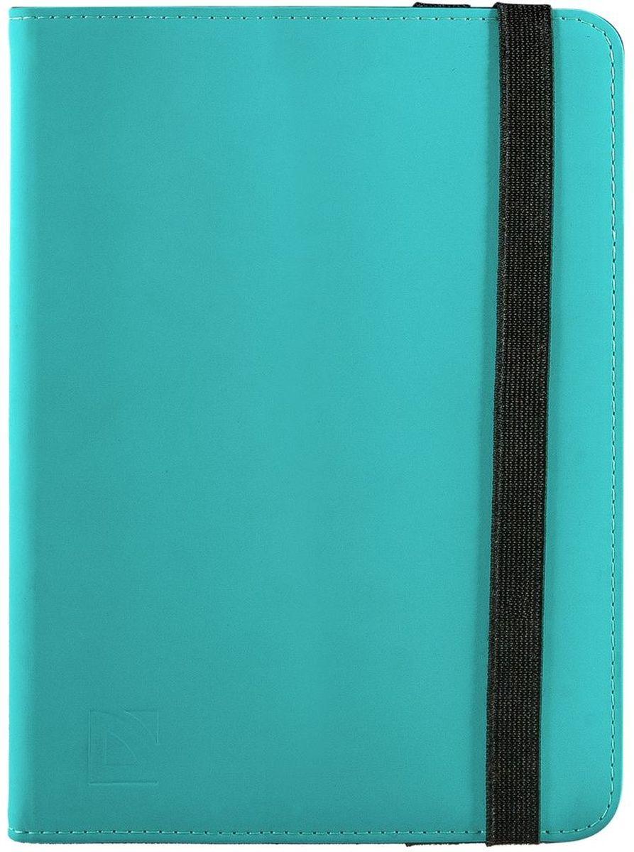 Defender Booky uni 10.1, Turquoise чехол для планшета26055Чехол Defender Defender Booky uni 10.1 открывается как книжка и оснащен внутренним карманом для необходимых мелочей. Резиновые уголки надежно удерживают ваше устройство на месте, а мягкая внутренняя подкладка защищает от повреждений, ударов и царапин. Широкий эластичный ремешок надёжно закрывает чехол.
