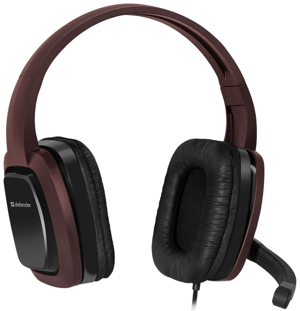 Defender Warhead G-250, Brown игровая гарнитура64120Игровая гарнитура Defender Warhead G-250 предназначена для компьютеров нового поколения, использующих комбинированный четырехпиновый разъем для наушников и микрофона. Наушники закрытого типа с большими 40 мм динамиками гарантируют мощный чистый звук. На кабеле гарнитуры удобно расположен регулятор громкости. Благодаря надежной звукоизоляции и комфортным амбюшурам вы сможете играть или слушать музыку с комфортом - ничто не будет вам мешать! Частотный диапазон микрофона: 20 Гц - 16 кГц Сопротивление микрофона: 2,2 кОм Чувствительность микрофона: 54 дБ