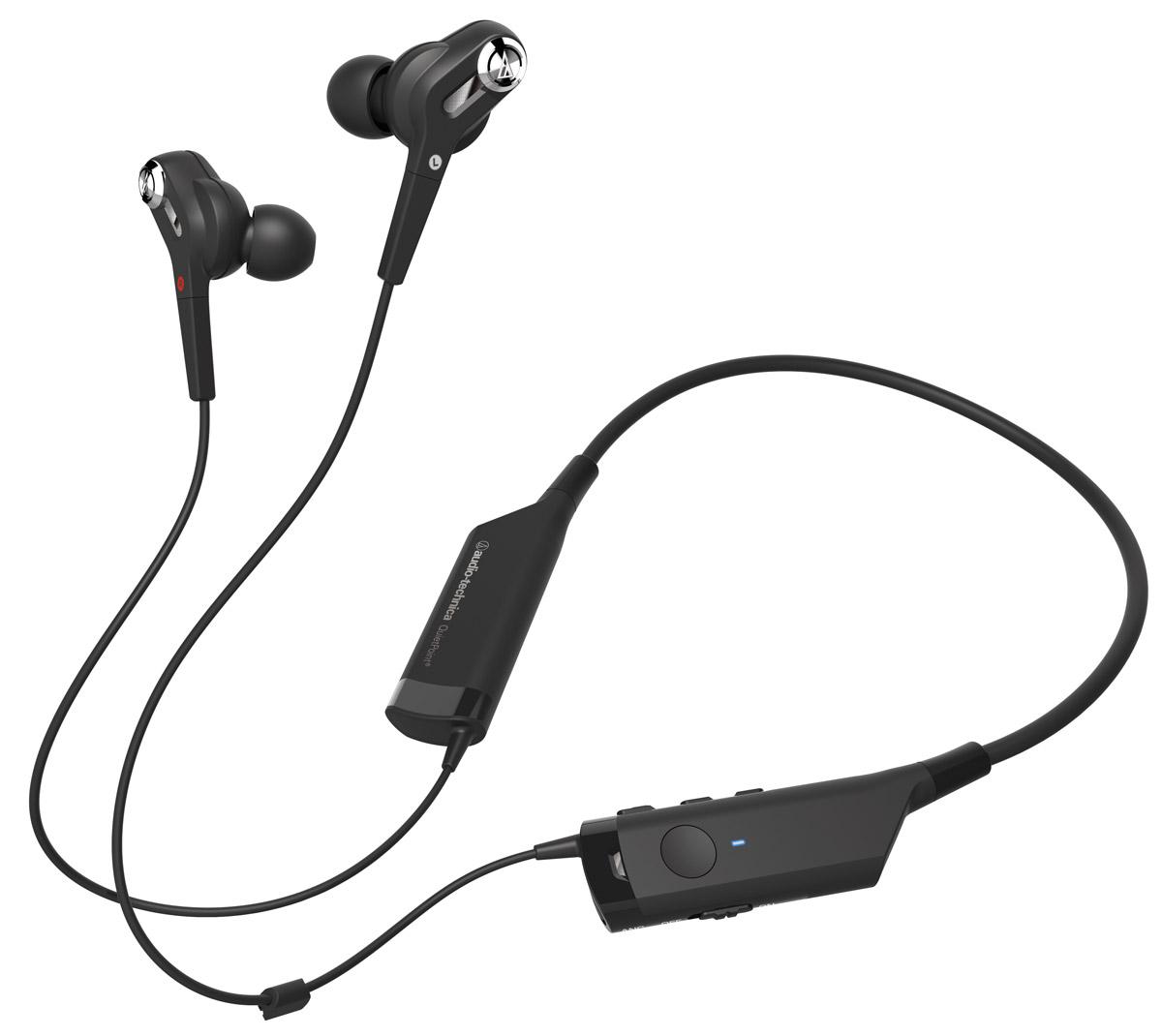Audio-Technica ATH-ANC40BT наушники4961310132194Audio-Technica ATH-ANC40BT - это Bluetooth-гарнитура с вставными наушниками, обеспечивающая великолепное качество звука и отличное шумоподавление. Модель отличается уникальным дизайном и удобной посадкой благодаря шейному креплению. Наслаждайтесь музыкой при любом, даже самом активном, образе жизни! Пульт управления, которым оснащена гарнитура, позволяет принимать звонки, завершать разговор, регулировать громкость и перелистывать треки на вашем смартфоне или портативном аудиоустройстве. Уникальная беспроводная Bluetooth-гарнитура Качественное звучание Удобное шейное крепление До 90% активного шумоподавления Пульт управления, позволяющий отвечать на звонки и управлять музыкой Возможность воспроизведения музыки после полной разрядки гарнитуры