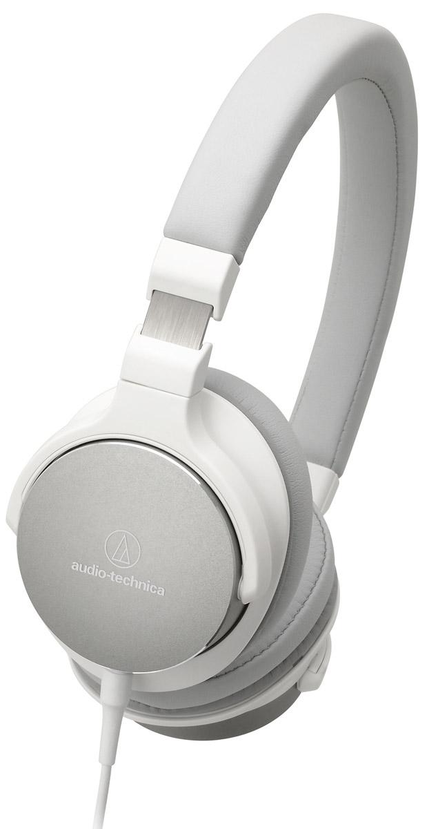 Audio-Technica ATH-SR5, White наушники15118425Audio-Technica ATH-SR5 - портативные накладные наушники, разработанные специально для трансляции аудио высокого разрешения. Благодаря своему полувековому опыту, компании Audio-Technica удалось создать наушники с настоящим Hi-Fi-звучанием, но при этом очень удобные в использовании не только в домашних условиях, но и в путешествиях. Лёгкая гибкая конструкция, мягкие амбушюры с эффектом памяти и регулируемое оголовье подарят возможность наслаждаться любимой музыкой много часов подряд! Специально разработанные 45-мм драйверы передают звук высокого разрешения Поворотные чашки Отсоединяемый кабель с микрофоном и пультом управления Амбушюры с эффектом памяти обеспечивают непревзойденный комфорт