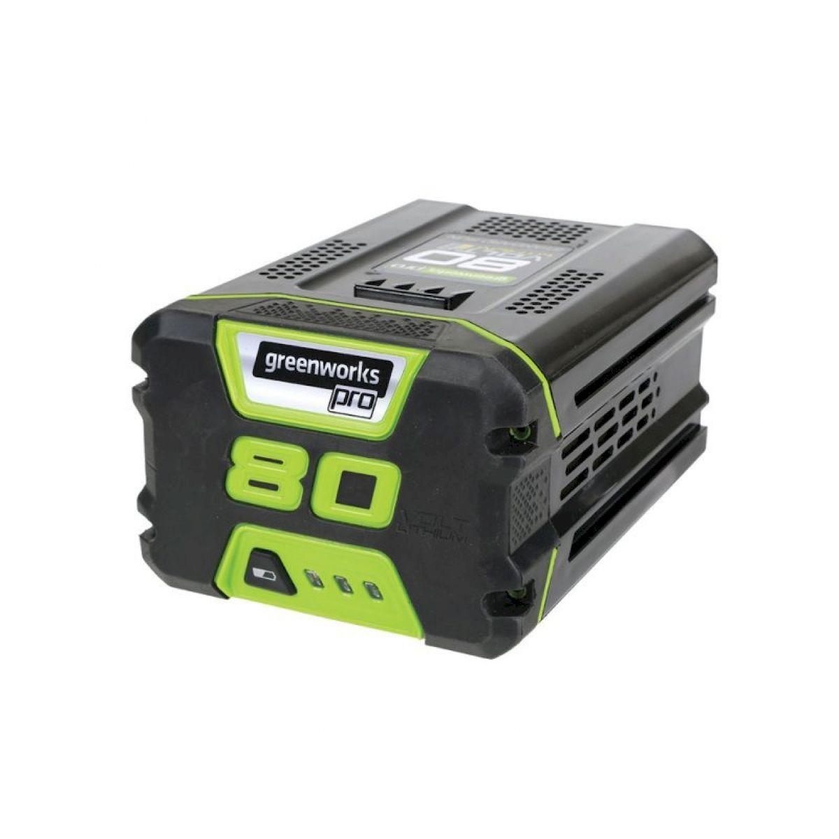 Литий-Ионная аккумуляторная батарея GreenWorks 80В 2Аh2901207Система блокировки в случае заклинивания лезвий