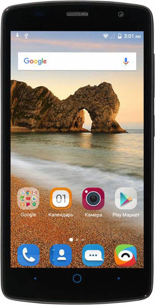 ZTE Blade L5 Plus, BlackZTE BLADE L5 PLUS BLACKСмартфон Blade L5 Plus – благодаря большому 5-дюймовому HD-дисплею является отличным решением для пользователя, который нацелен на повседневное чтение электронных книг, просмотр интернет-страниц, видео и фото. Наличие большого 5-дюймого HD-дисплея с разрешением 1280х720, выполненного по технологии IPS, предоставляет возможность пользователю комфортно просматривать интернет-страницы, читать электронные книги и смотреть медиа-контент без потери качества изображения и цветопередачи. Четрырехъядерный процессор MediaTek MT6580 и 1 ГБ оперативной памяти обеспечивают скорость в обработке повседневных задач и плавную работу приложений. Корпус смартфона Blade L5 Plus изготовлен из качественного текстурированного поликарбоната, который максимально неприхотлив в повседневном использовании, в течение долгого времени сохранит первоначальный вид и будет удобно лежать в руке. Управление смартфона осуществляется на базе операционной системы...