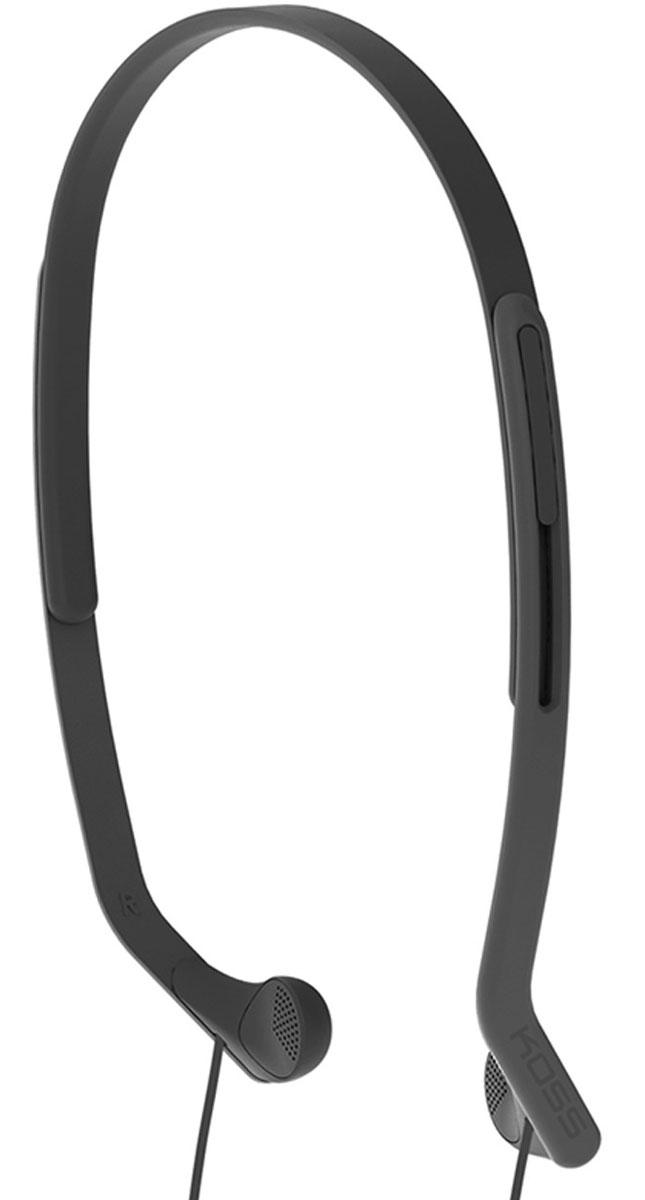 Koss KPH14, Black наушники15118066Koss KPH14 – это вертикальные наушники для занятий спортом с комфортным регулируемым оголовьем. Отличаются особо лёгкой конструкцией и устойчивостью к влаге. Наушники пропускают внешние звуки, что позволяет контролировать ситуацию в тренажерном зале, на улице, в транспорте и чувствовать себя совершенно безопасно.