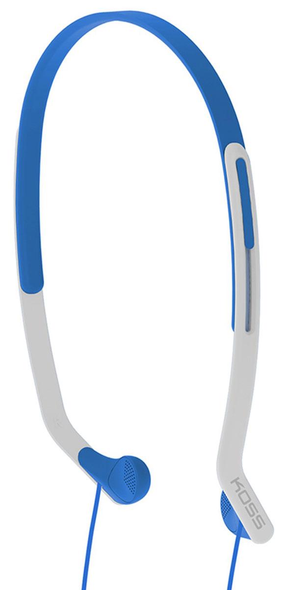 Koss KPH14, Blue наушники15118064Koss KPH14 - это вертикальные наушники для занятий спортом с комфортным регулируемым оголовьем. Отличаются особо лёгкой конструкцией и устойчивостью к влаге. Наушники пропускают внешние звуки, что позволяет контролировать ситуацию в тренажерном зале, на улице, в транспорте и чувствовать себя совершенно безопасно.