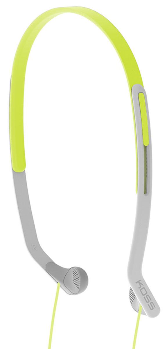 Koss KPH14, Green наушники15118065Koss KPH14 - это вертикальные наушники для занятий спортом с комфортным регулируемым оголовьем. Отличаются особо лёгкой конструкцией и устойчивостью к влаге. Наушники пропускают внешние звуки, что позволяет контролировать ситуацию в тренажерном зале, на улице, в транспорте и чувствовать себя совершенно безопасно.