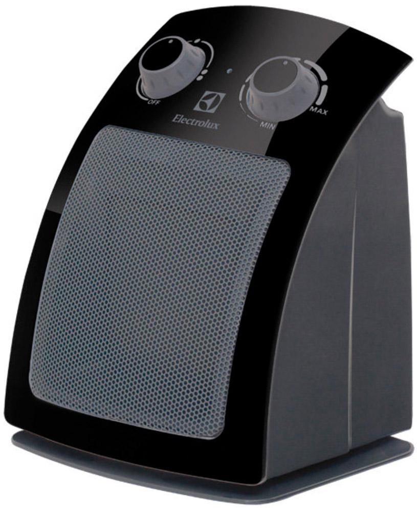 Electrolux 5115C/EFH, Black тепловентиляторEFH/C-5115 BlackТепловентилятор Electrolux EFH/C-5115 относится к дизайнерской ART-серии тепловентиляторов компании Electrolux, отличительной чертой которой является инновационный современный дизайн. Важной инновацией новой линейки тепловентиляторов Electrolux явилась их высокая экологичность – все тепловентиляторы Electrolux из ART- серии выполнены из экологически чистых и безопасных материалов, не создающих вреда здоровью человека и окружающей среде. Встроенная защита от перегрева и высококачественные материалы, использованные при производстве тепловентиляторов ART-серии, обеспечивают абсолютную безопасность в процессе эксплуатации.