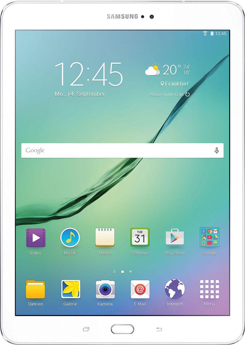 Samsung Galaxy Tab S2 SM-T813, WhiteSM-T813NZWESERПланшет Samsung Galaxy Tab S2 выполнен из цельно металлического корпуса с толщиной всего 5.6 миллиметров и по праву является самым тонким планшетом в мире. При весе всего 389 грамм и диагональю 9.7 дюймов является еще и самым лёгким в своём сегменте. Стоит отметить и форм-фактор дисплея, с соотношение сторон 4:3, с таким дисплеем гораздо комфортнее пользоваться социальными сетями и интернет браузером или просто читать книгу. Планшет Samsung Galaxy Tab S2 обладает потрясающим SuperAMOLED дисплеем с разрешением 2048x1536 пикселей. Восьмиядерный процессор с чистотой 1,9 ГГц , 3 гигабайта оперативной памяти и 32 встроенной, которую можно увеличить картой памяти microSD до 128 гигабайт. Основная камера, делает отличные фото даже при слабом освещении, благодаря 8 мегапикселям и светосилы 1.9, а фронтальная, 2.1 мегапикселя для скайпа и селфи. Для зашиты персональных данных воспользуйтесь инновационным сканером отпечатка пальцев. Или блокируйте планшет по...
