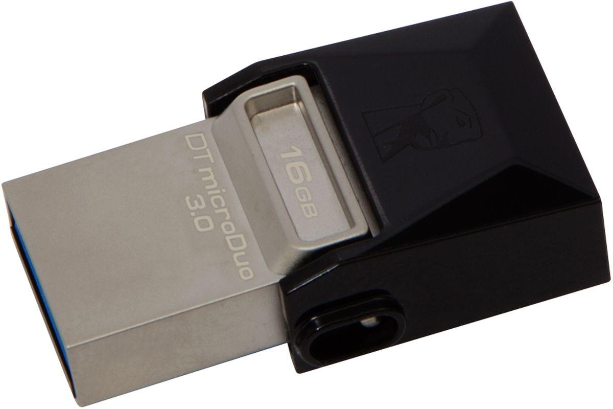 Kingston DataTraveler microDuo 3.0 16GB USB-накопительDTDUO3/16GBНакопители Kingston DataTraveler microDuo 3.0 имеют компактный форм-фактор и предоставляют дополнительную память для планшетов и смартфонов, поддерживающих функцию USB OTG (On-The-Go). Стандарт USB OTG позволяет напрямую подключать мобильные устройства к поддерживаемым USB-устройствам. Накопители емкостью до 64 ГБ позволяют использовать разъемы microUSB, часто применяемые для зарядки устройств, в качестве портов расширения памяти. DTDUO идеально подходит для хранения больших файлов в путешествиях, обеспечивая функцию plug-and-play в планшетах и смартфонах без разъемов microSD; при этом цена на гигабайт у накопителя ниже, чем у дополнительных встроенных накопителей для мобильных устройств. В смартфонах и планшетах с возможностью записи HD-видео и съемки качественных фотографий свободное место заканчивается очень быстро. Накопители DTDUO позволяют перемещать файлы, фотографии, видео и другие данные для выгрузки или резервного копирования, не...