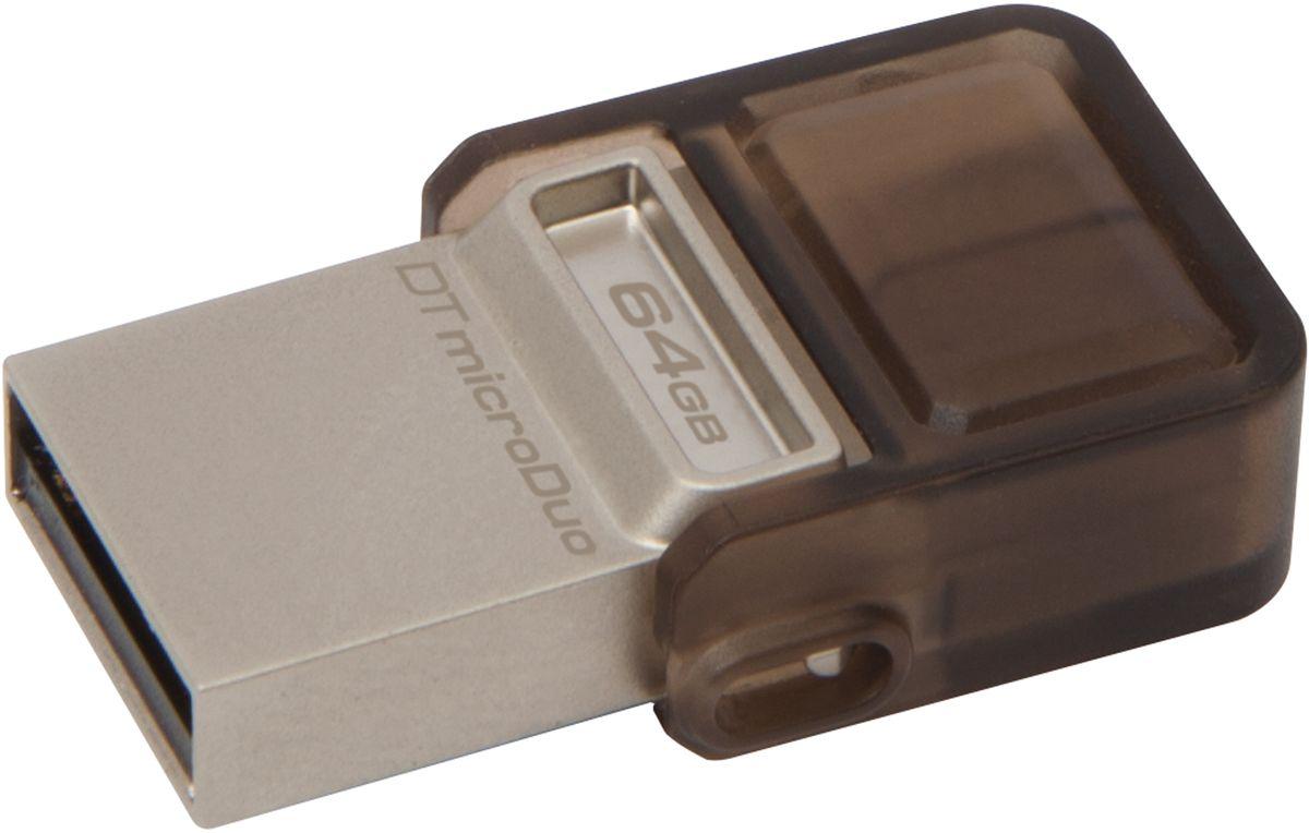 Kingston DataTraveler microDuo 64GB USB-накопительDTDUO/64GBНакопитель DataTraveler microDuo компании Kingston имеет компактный форм-фактор и предоставляет дополнительное пространство для хранения данных для планшетов и смартфонов, поддерживающих функцию USB OTG(On-The-Go). Стандарт USB OTG позволяет напрямую подключать мобильные устройства к поддерживаемым USB-устройствам. DataTraveler microDuo емкостью до 64 ГБ позволяет использовать разъемы microUSB, часто применяемые для зарядки устройств, в качестве портов расширения. DTDUO идеально подходит для хранения больших файлов во время путешествий, обеспечивая функцию автоматического конфигурирования в планшетах и смартфонах без разъемов microSD; при этом цена на гигабайт у накопителя ниже, чем у дополнительных встроенных накопителей для мобильных устройств. В смартфонах и планшетах с возможностью записи HD-видео и съемки качественных фотографий свободное пространство заканчивается очень быстро. DTDUO позволяет перемещать файлы, фотографии, видео и другие ...