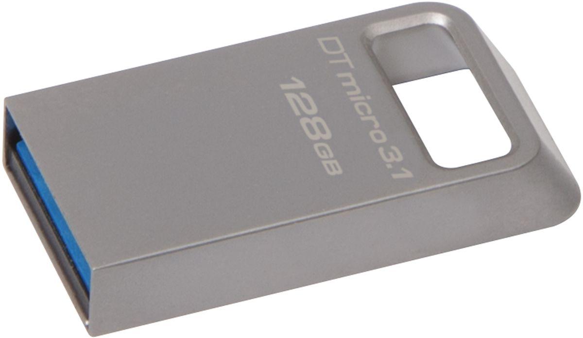 Kingston DataTraveler Micro 3.1 128GB USB-накопительDTMC3/128GBKingston DataTraveler Micro 3.1 - это сверхкомпактный и легкий USB-накопитель без колпачка, поддерживающий высокую скорость интерфейса USB 3.1 (до 100 МБ/с для чтения и до 15 МБ/с для записи). Он имеет настолько компактные размеры, что его можно оставить подключенным к ноутбуку, даже когда вы его не используете. Кроме того, накопитель имеет прочное кольцо для брелоков. С помощью этого устройства с автоматической настройкой конфигурации вы сможете хранить до 64 ГБ музыки, фильмов, файлов и других данных. Он идеально подходит для использования с планшетами, ноутбуками, автомобильными стереосистемами и телевизорами. Металлический корпус дополняет современный внешний вид других устройств. Он не имеет колпачка, который можно потерять или сломать. Высокая скорость интерфейса USB 3.1. Пятилетняя гарантия, бесплатная техническая поддержка и легендарная надежность Kingston.