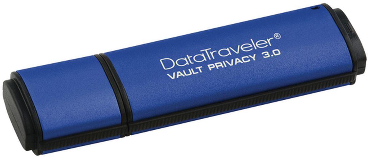 Kingston DataTraveler Vault Privacy 3.0 8GB USB-накопительDTVP30/8GBФлэш-драйв Kingston DataTraveler Vault Privacy 3.0, 8 Гб, USB 3.0