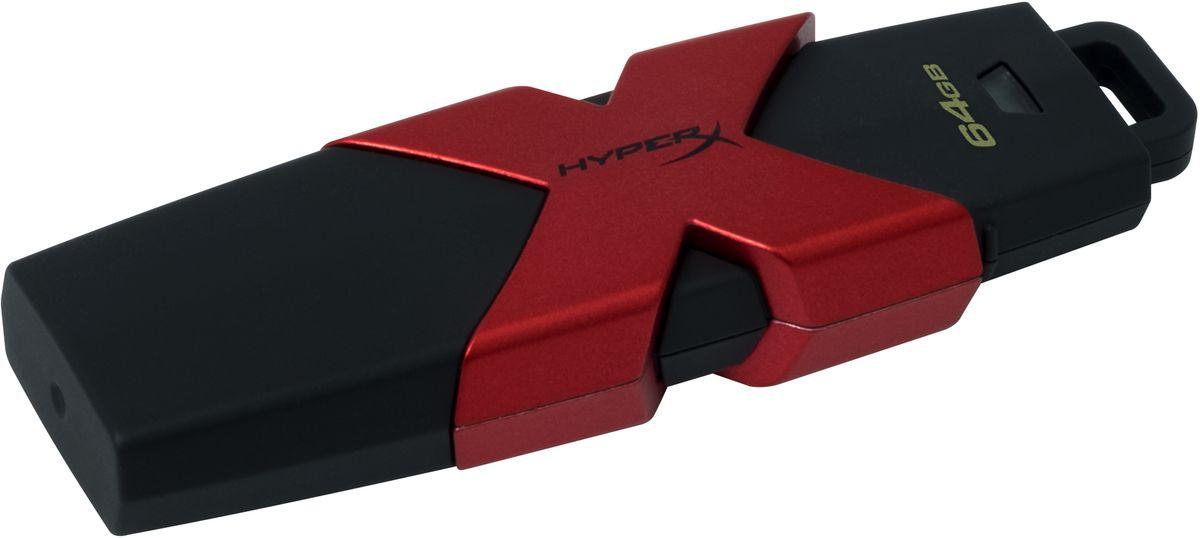Kingston HyperX Savage 64GB USB-накопительHXS3/64GBKingston HyperX Savage - это стильный накопитель с элегантным черным корпусом и фирменным логотипом HyperX в агрессивном красном цвете. Он предназначен для использования с различными платформами и игровыми консолями, включая PS4, PS3, Xbox One и Xbox 360. USB-накопитель HyperX Savage обеспечивают высокую скорость работы (до 350 Мб/с) для экономии времени во время передачи файлов и позволяют быстро открывать, изменять и переносить файлы с накопителя без снижения производительности. Благодаря большой емкости, у вас будет достаточно места для хранения больших файлов (фильмов, фотографий с высоким разрешением, музыки и т.д.). Устройство соответствует спецификациям USB 3.1 Gen 1, поэтому вы сможете воспользоваться всеми преимуществами портов USB 3.1 в настольных компьютерах и ноутбуках, а также обратной совместимостью с USB 3.0 и USB 2.0.