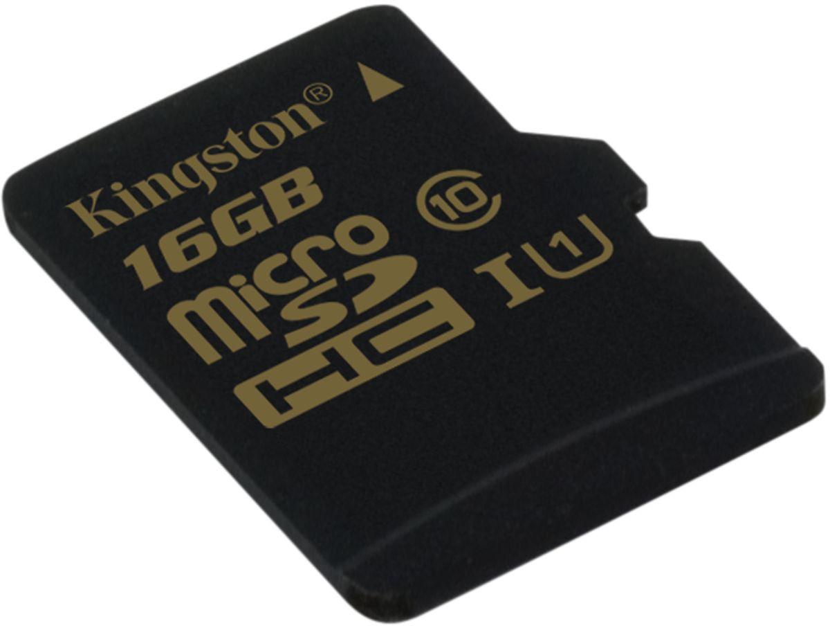 Kingston microSDHC Class 10 UHS-I 16GB карта памяти (90/45 Мб/с)SDCA10/16GBSPКарта памяти Kingston microSDHC Class 10 UHS-I поможет вам в достижении высокой скорости съемки фотографий и записи видео в формате HD без задержек. Данная модель имеет все основные защитные функции от Kingston: водонепроницаемый корпус, ударостойкость и виброустойчивость, защиту от рентгеновских аппаратов в аэропортах и экстремальных температур.