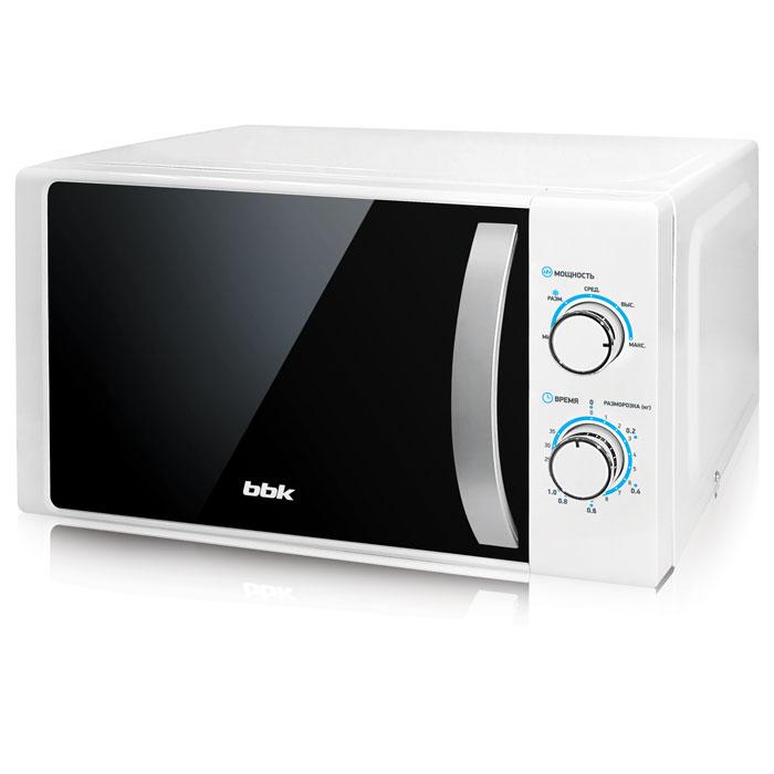 BBK 20MWS-711M/WS, White Silver СВЧ-печь20MWS-711M/WS/RU20 литров соло, механическое управление, 700 Вт