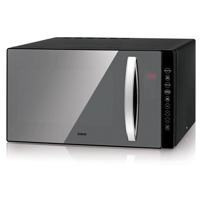 BBK 23MWC-881T/B-M, Black СВЧ-печь23MWC-881T/B-M/RUМикроволновая печь BBK 23MWC-881T/B-M достойна внимания даже самых взыскательных пользователей кухонной электротехники, поскольку обладает внушительным списком характеристик: автоматические программы приготовления и размораживания блюд по весу, комбинированный режим приготовления, функции Таймер и Защита от доступа детей. На этом перечень достоинств не заканчивается: гриль превосходно поджарит мясо и рыбу, а благодаря конвекции получится великолепный румяный пирог! Мощность гриля в камере объемом 23 литра составляет 1200 Вт, микроволн — 800 Вт, причем существует 5 уровней регулировки мощности. Электронное управление значительно облегчает эксплуатацию. Это оптимальные показатели для использования в кулинарном деле такого оборудования, как микроволновая печь.