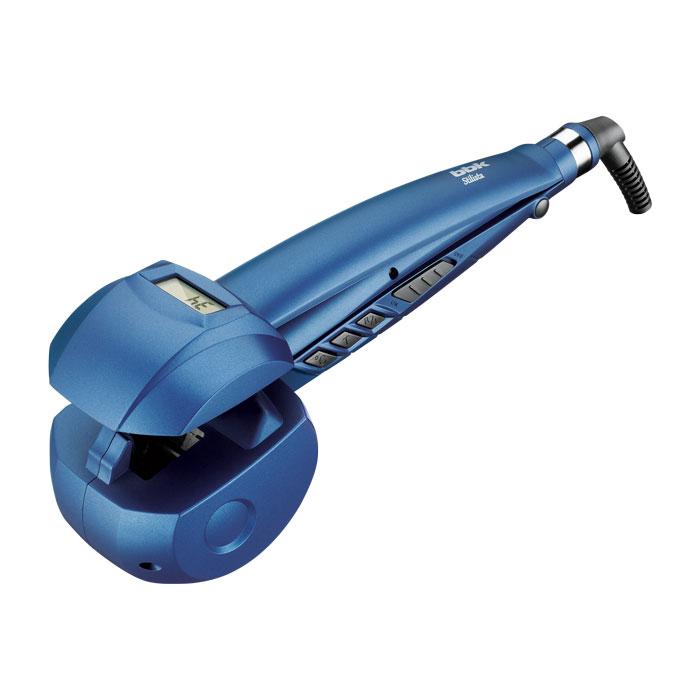 BBK BST5001, Dark Blue щипцы для завивки волосBST5001Стайлер BBK BST5001 серии Stilista - это прибор с автоматическим абсолютно комфортным созданием голливудских локонов. Особенность технологии автовращения в том, что она создает локон внутри прибора, локоны держатся по–настоящему долго. Для разных типов волос предусмотрен выбор температурного режима – 170°, 190°, 210°, а также времени укладки – 8 / 10 / 12 секунд. Температура равномерно распределяется от обеих керамических поверхностей, сохраняя здоровье волос. Функция ионизации придаст волосам блеск и устранит статическое напряжение. LCD-дисплей позволяет легко управлять процессом. Усовершенствованный нагревательный элемент, зуковой сигнал и вращающийся шнур, предотвращающий скручивание, также делают эксплуатацию стайлера максимально комфортной. Дополнительной безопасностью является автоматическое отключение через 1 час работы.