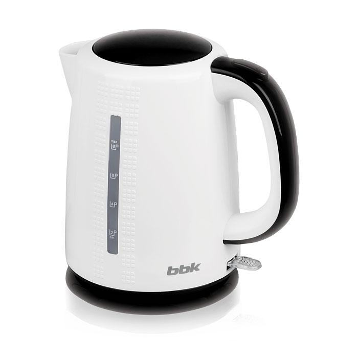 BBK EK1730P, White Black электрический чайникEK1730P бел/черЭлектрический чайник BBK EK1730P отличается 3D дизайном на корпусе, мощностью 2200 Вт и емкостью 1,7 литра. Устройство снабжено высококачественным английским контроллером KeAi, благодаря чему срок эксплуатации увеличен в 5 раз. Чайник расположен на подставке с возможностью поворота на 360° и с отсеком для хранения шнура. Съемный фильтр от накипи и скрытый нагревательный элемент гарантированно обеспечат надежность, долговечность и максимально комфортное ежедневное использование.