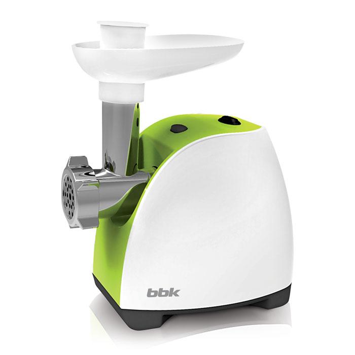 BBK MG1601, White Green мясорубкаMG1601 б/зМясорубка BBK MG1601 - многофункциональное устройство, которое предназначено не только для измельчения мяса, но также для изготовления полуфабрикатов, лапши, соков из мягких фруктов и овощей. Имея максимальную мощность 1600 Вт, способна за одну минуту переработать 1,2 кг мяса. В комплектацию входит 3 перфорированных диска для фарша. Оснащена полезной функцией реверса, которая позволяет шнеку вращаться в обратную сторону и тем самым легко устранять затор.