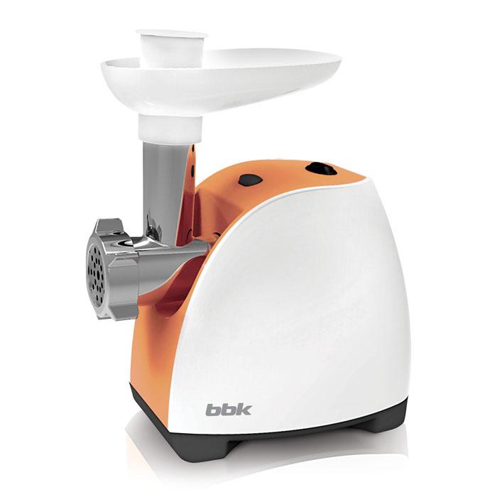 BBK MG1601, White Orange мясорубкаMG1601 б/орМясорубка BBK MG1601 – многофункциональное устройство, которое предназначено не только для измельчения мяса, но также для изготовления полуфабрикатов, лапши, соков из мягких фруктов и овощей. Имея максимальную мощность 1600 Вт, способна за одну минуту переработать 1,2 кг мяса. В комплектацию входит 3 перфорированных диска для фарша. Оснащена полезной функцией реверса, которая позволяет шнеку вращаться в обратную сторону и тем самым легко устранять затор.