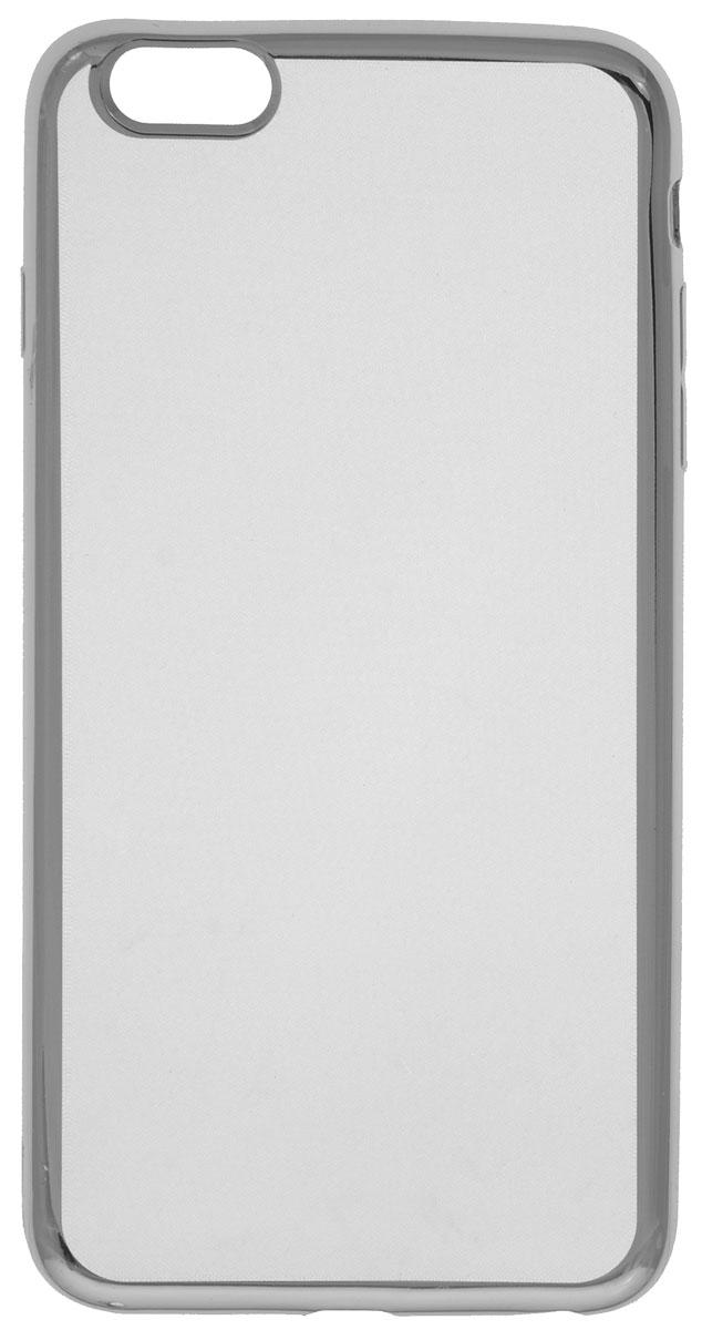 Red Line iBox Blaze чехол для iPhone 6 Plus/6s Plus, SilverУТ000008422Декоративный защитный чехол - накладка Red Line iBox Blaze для iPhone 6 Plus/6s Plus с эффектом металлических граней надежно защитит заднюю крышку смартфона от пыли, царапин и других возможных повреждений.