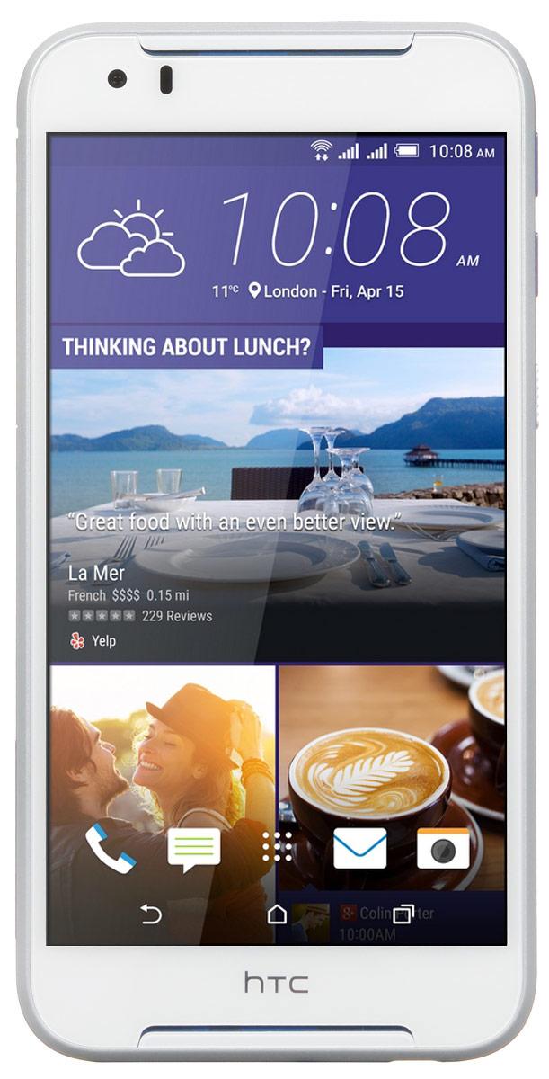 HTC Desire 830 dual sim, Cobalt White99HAJU032-00Представляем HTC Desire 830 dual sim. Смартфон, который заметят окружающие: эффектные цветовые решения корпуса, внушительные аудио характеристики и отличные фронтальная и основная камеры. Корпус устройства, выполненный из материала soft-touch, ребристая кнопка включения, крепление для ремешка на руку делают изделие исключительно удобным в использовании. Наличие двух SIM-карт позволит разделить рабочие и личные звонки. Выпускные балы, решающие голы, яркие эмоции на аттракционах - нередко бывает тяжело поймать тот самый незабываемый кадр. С HTC Desire 830 dual sim снимать легко и просто: все технические задачи решены, и тебе остается просто нажать кнопку спуска. Основная камера 13 Мпикс поможет снимать отличные фото и видео. При необходимости фото можно отредактировать во встроенном Фоторедакторе, а также при желании добавить фотоэффекты - например, применить Двойную экспозицию. В HTC Desire 830 dual sim реализована поддержка...