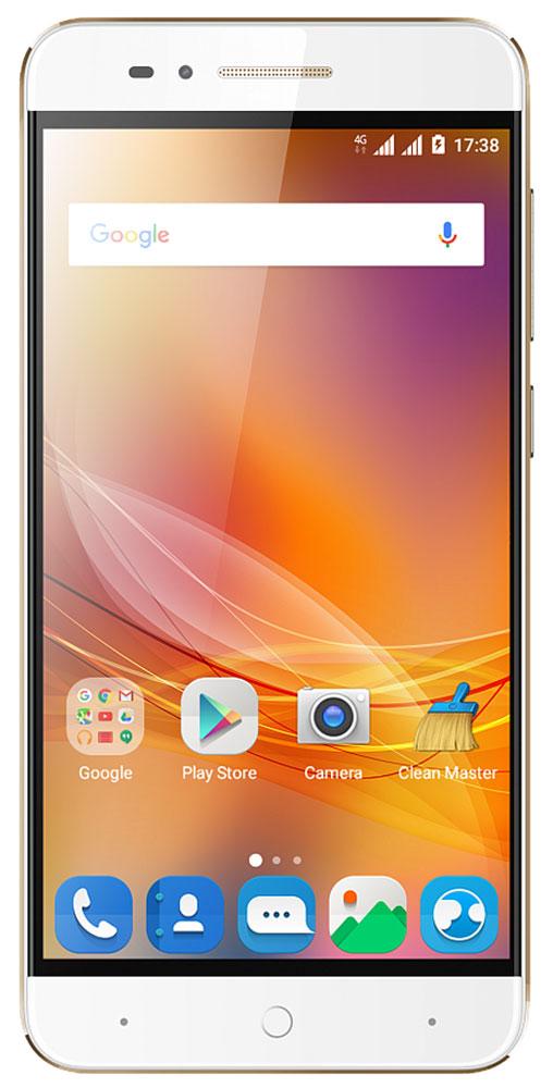 ZTE Blade A610, GoldZTE BLADE A610 GOLDЗадняя крышка смартфона ZTE Blade A610 изготовлена из авиационного алюминия, что добавляет устройству дополнительную механическую прочность, подчеркивает стильный минималистичный дизайн гаджета, а также повышает эффективность охлаждения при запуске ресурсоемких приложений и игр. Смартфон может похвастаться огромной емкостью батареи – 4000 мАч, что позволит вам совершать звонки, пользоваться интернетом, читать, фотографировать и делиться информацией с друзьями в течение нескольких дней без дополнительной подзарядки. Наличие большого 5-дюймого HD-дисплея с разрешением 1280х720, выполненного по технологии IPS, предоставляет возможность пользователю комфортно просматривать интернет-страницы, читать электронные книги и смотреть медиа-контент без потери качества изображения и цветопередачи. Поддержка в смартфоне технологии On-The-Go и повышенная емкость батареи предоставляет вам возможность не только самому наслаждаться беспрерывной работой...