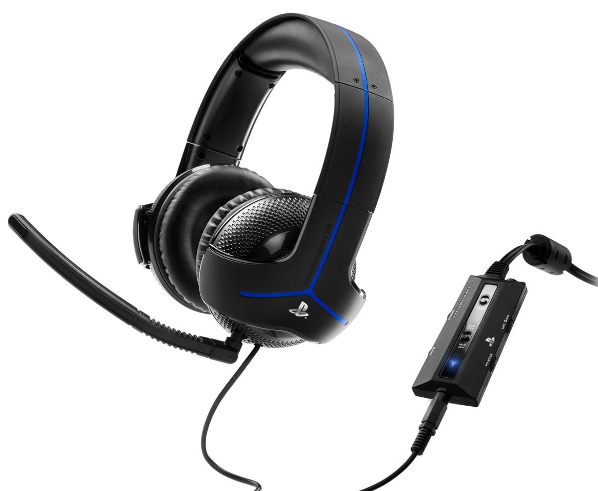 Thrustmaster Y300P игровая гарнитура для PS4 (4160596)4160596Гарнитура нового поколения Thrustmaster Y300P со звукоусилением, специально для PlayStation4. Специальный дизайн, созданный командой Thrustmasterпо лицензии Sony, исключительно удобный: большие, супермягкие ушные подушки и мягкая пенная прокладка под дугой оголовья - для максимального комфорта во время длительных игровых сессий и надежная, эффективная пассивная изоляция. Микрофон с шумоподавлением, рассчитанный на улавливание только голоса геймера и подавления окружающих шумов - для максимально эффективной связи с партнерами по команде. Микрофон можно снять и отрегулировать под любой размер и форму головы геймера. Аудиопараметры подогнаны под PlayStation4 и PlayStation3, электронная начинка рассчитана на оптимизацию звука для воспроизводящей системы Кристально чистый звук благодаря отличным 50 мм динамическим головкам Реалистичное воспроизведение звука благодаря сбалансированной амплитудно-частотной характеристике, ...