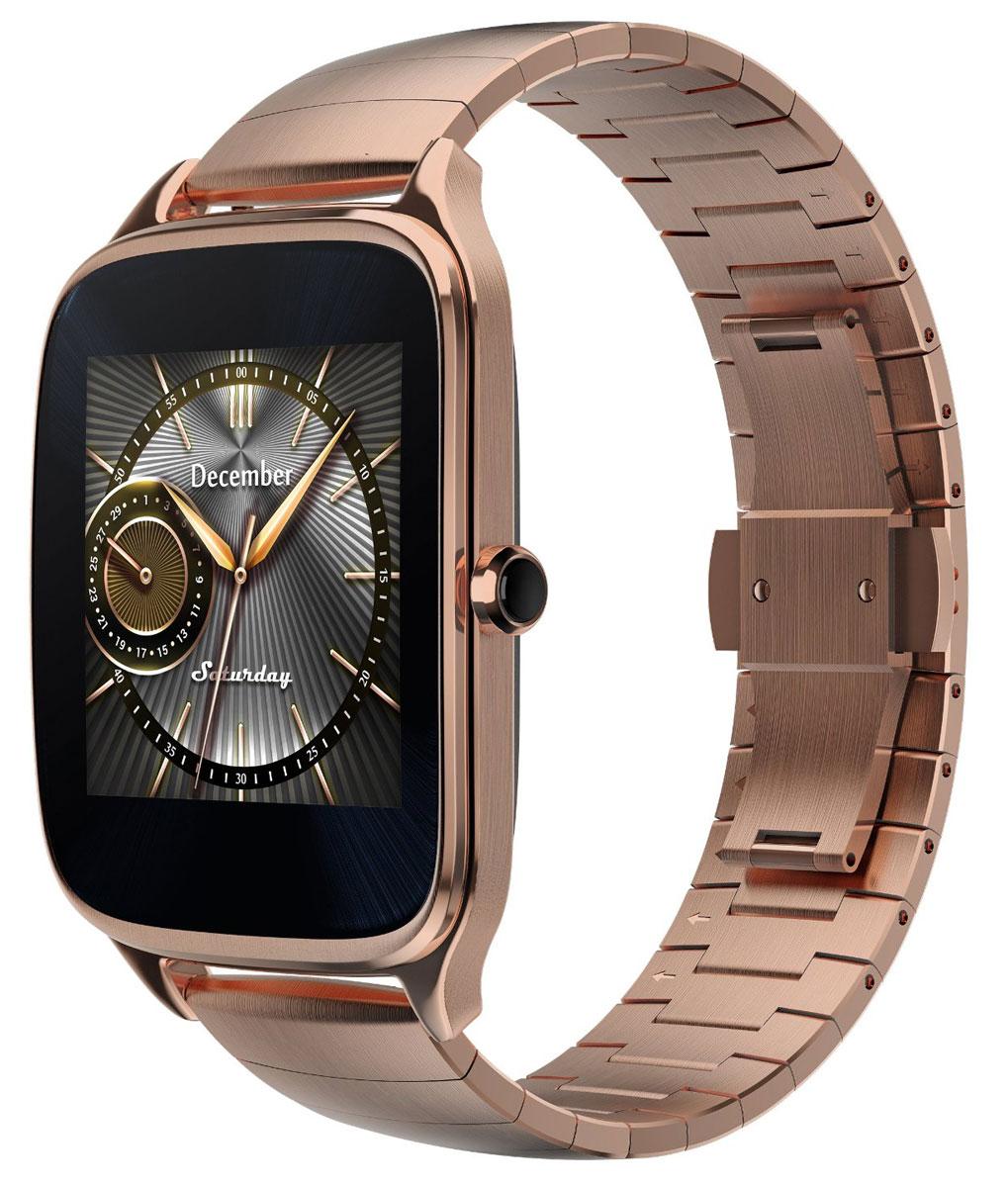ASUS ZenWatch 2 WI501Q(BQC), Gold смарт-часы4712900359732Asus ZenWatch 2 - традиции и инновации в одном стильном устройстве. ZenWatch 2 - это стильные часы с мощной функциональностью. Корпус часов изготавливается из высококачественной нержавеющей стали. Отражая традиционный дизайн часов, на корпусе ZenWatch 2 имеется металлическая кнопка, которая используется в качестве элемента управления. Помимо 60 стандартных циферблатов можно создавать свои собственные варианты оформления экрана часов с помощью приложения FaceDesigner. С помощью часов ZenWatch 2 можно легко обмениваться короткими текстовыми сообщениями, смайликами и рисунками с друзьями и близкими. Просматривайте важную информацию и реагируйте на нее простым прикосновением к экрану или с помощью голосовой команды. Встроенный в часы шагомер обладает высокой точностью, позволяя пользователю следить за своей физической активностью и прогрессом в достижении фитнес-целей. Также имеется функция мониторинга сна. ...