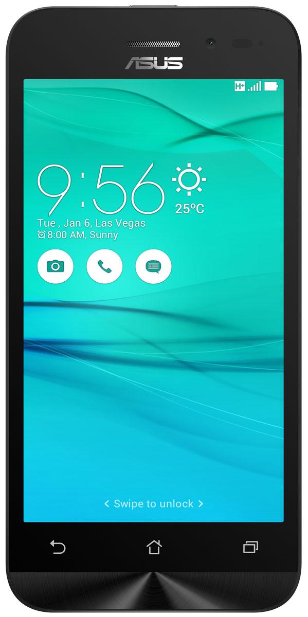 ASUS ZenFone Go ZB452KG, White (90AX0142-M01140)90AX0142-M01140Смартфон ZenFone Go (ZB452KG) выполнен в изящном корпусе. Обладая эргономичной формой, он украшен традиционным для мобильных устройств ASUS узором из концентрических окружностей с углублениями размером 0,13 мм. Четырехъядерный процессор: Мощный процессор Qualcomm Snapdragon 200 обеспечивает высокую производительность ZenFone Go в многозадачном режиме. Впечатляющее изображение: ZenFone Go оснащается IPS-дисплеем с разрешением 480x854 пикселей. Изображение на его экране отличается высокой яркостью, поразительной четкостью и насыщенными цветами. Высококачественная камера: Для съемки ярких фотографий данный смартфон оснащается тыловой камерой с высоким разрешением. Ловите красивые моменты жизни вместе с ZenFone Go! Поддержка двух SIM-карт: ZenFone Go оснащается двумя слотами для SIM-карт, что позволяет использовать одновременно два телефонных номера, например рабочий и личный. Применяемый в нем модуль...