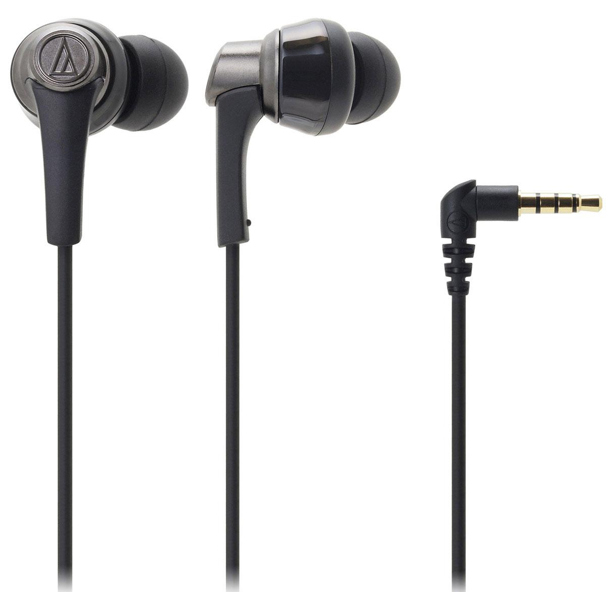 Audio-Technica ATH-CKR5, Black наушники15118237Audio-Technica ATH-CKR5 - вставные наушники премиум-класса с эргономикой высокого уровня и превосходным звучанием. Новейшие 13-мм драйверы качают мощные басы потрясающей глубины и чёткости. Звучание дополнительно оптимизируют специальные латунные стабилизаторы, поглощающие нежелательные вибрации. Эта технология позволяет добиться кристально чистой передачи на средних и высоких частотах. Четыре пары амбушюр разного размера дают возможность выбрать наиболее подходящие, что благоприятно скажется на звуке. Особенности: Вставные наушники премиум-класса Специальный корпус с превосходным креплением 13-мм драйверы, разработанные в 2015 году Глубокий детализированный звук Латунные стабилизаторы вибраций