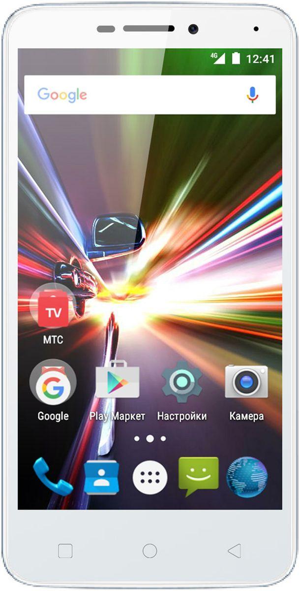 МТС Smart Race LTE, White (только для SIM-карт МТС)A0104-100619МТС Smart Race LTE - это компактный смартфон начального уровня, который дает доступ к сетям четвертого поколения (4G/LTE). Благодаря этому можно наслаждаться просмотром роликов на YouTube, онлайн-музыкой и простым интернет-серфингом на высоких скоростях без использования точки доступа Wi-Fi. Слот для второй SIM-карты позволит более гибко выбирать тарифы, например, первую сим-карту можно использовать для звонков в домашнем регионе, а вторую в роуминге. Вся информация выводиться на 4.5 дюймовый экран с разрешением 854 х 480 пикселей, который выполнен по технологии IPS. Дисплеем такого размера очень удобно управлять одной рукой, но при этом изображение остается легко читаемым. Устройство работает только с SIM-картами МТС! В смартфоне установлен процессор 4 ядерный MediaTek MT6735M с рабочей частотой 1 ГГц и видеопроцессор Mali T720 MP2. Совместно с 1 Гб оперативной памяти и ОС Android , их мощности хватает для быстрого выполнения повседневных задач. Для хранения...