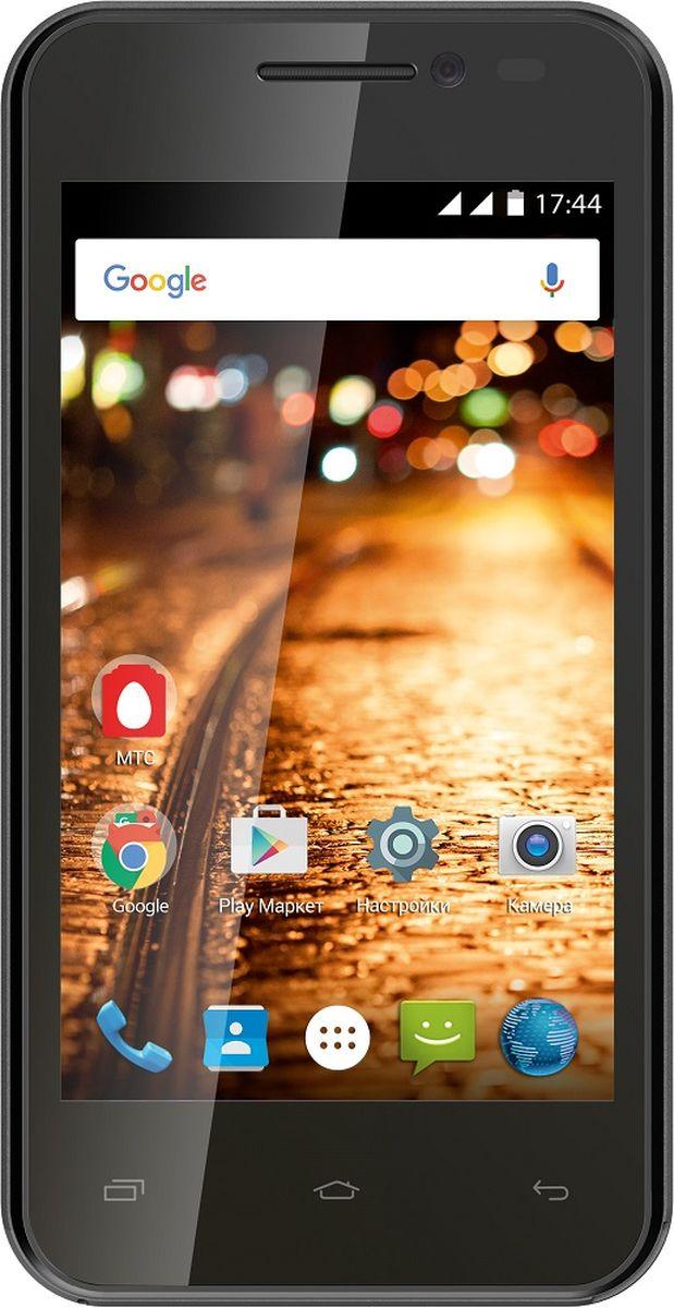 МТС Smart Start 2, Black (только для SIM-карт МТС)A0104-100408МТС Smart Start 2 отлично подойдет в качестве первого смартфона или аппарата для звонков и серфинга в интернете. Компактный корпус, позволяет ему поместиться в любой карман и удобно лежать в руке любого размера. Благоприятно на карман повлияет и низкая цена. Современная операционная система Android 5.1 Lollipop с фирменной оболочкой МТС Start, двухъядерный процессор MediaTek MT6572A/W и 512 Мб оперативной памяти, обеспечивают комфортную производительность при выполнении повседневных задач. Смартфон работает в сетях 3G, но для более быстрого доступа в интернет, можно использовать точку доступа Wi-Fi. Беспроводные колонки или наушники, подключаются по Bluetooth, который имеет версию 4.0. С его помощью, также, можно передавать файлы на другие гаджеты. Встроенные плеер, FM-радио и интернет-браузер не дадут заскучать в дороге. Плюсом является и наличие гарнитуры в комплекте, которую не часто найдешь в коробке с аппаратами начального уровня. МТС Smart Start 2 оснащен...