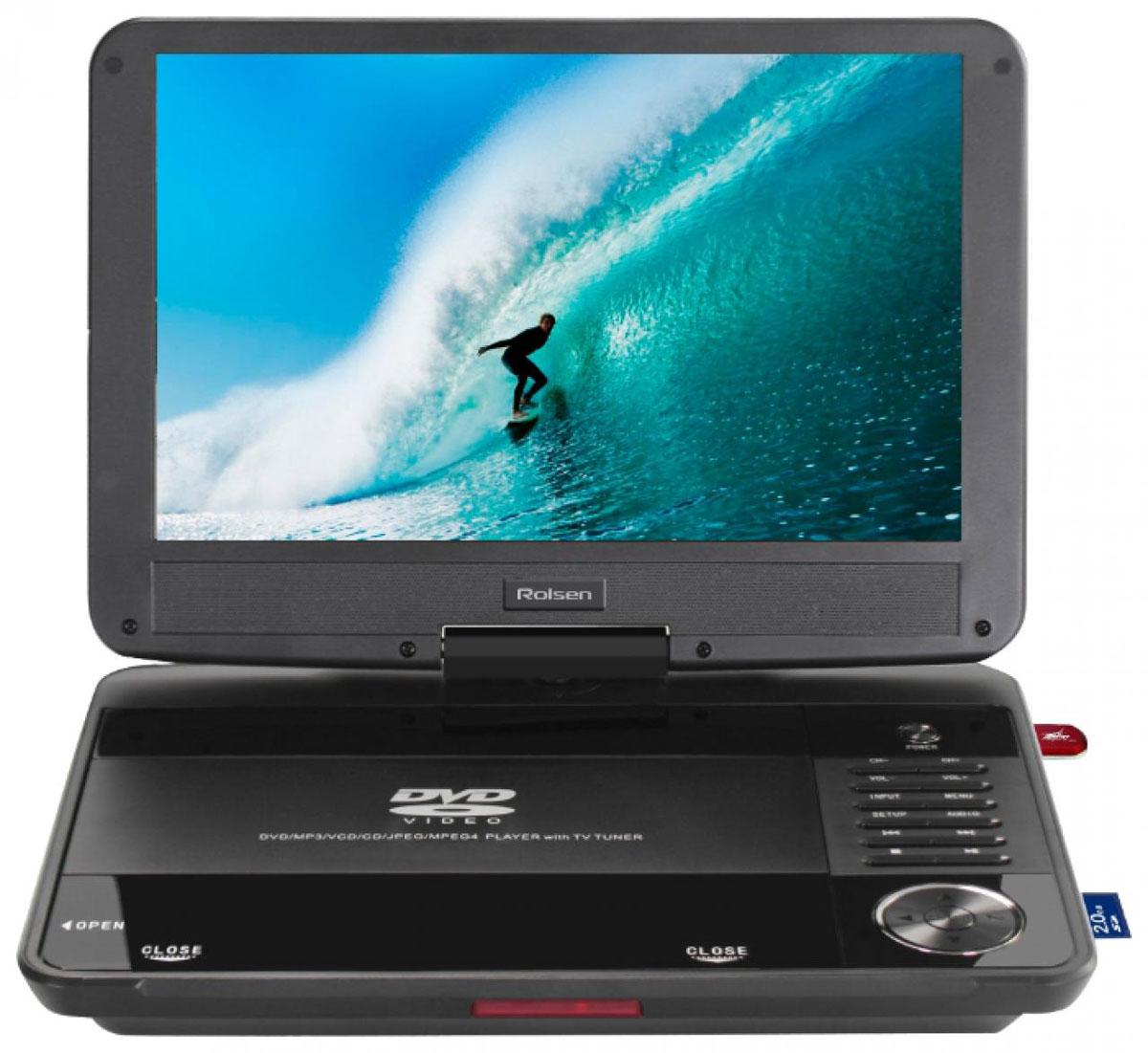 Rolsen RPD-10D08D, Black портативный DVD-плеер