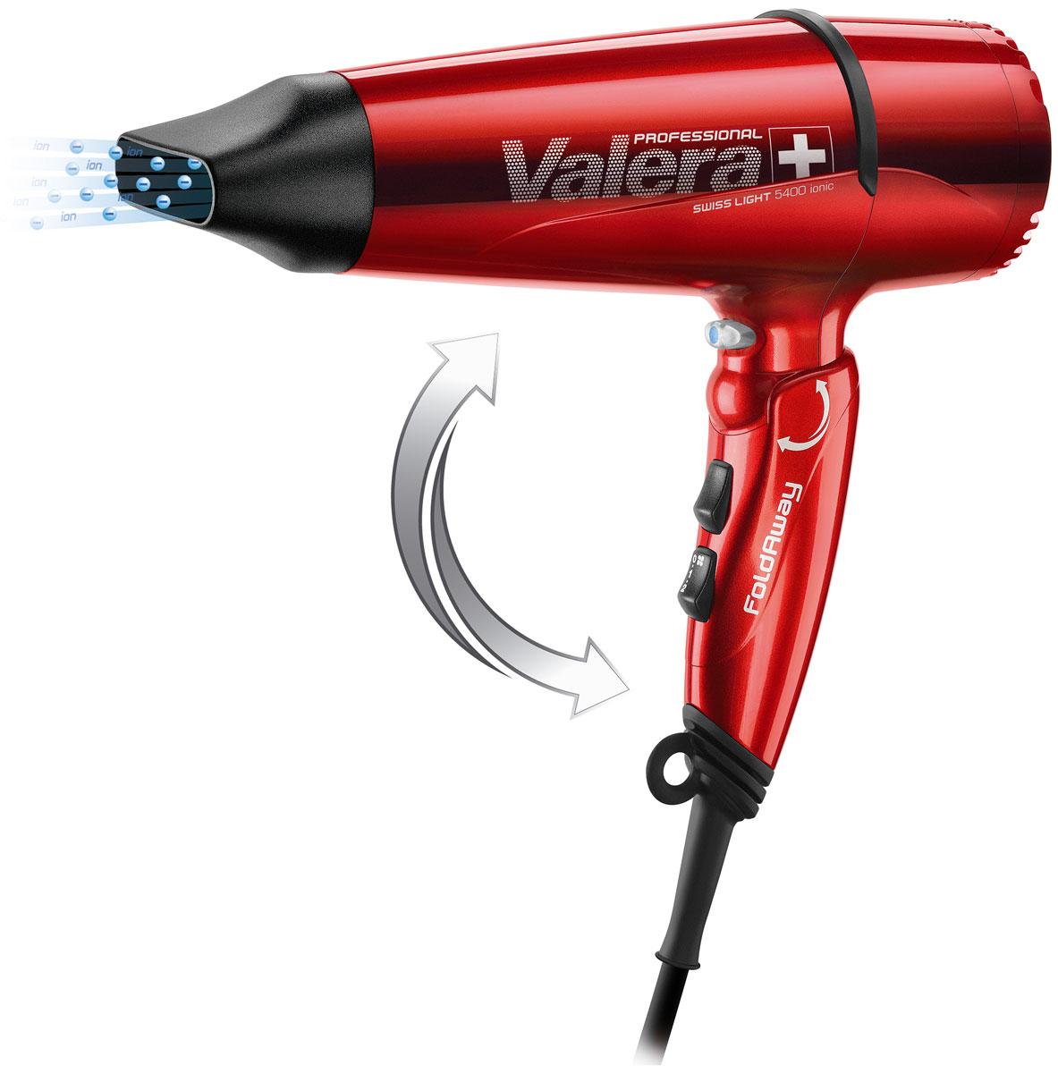 Valera SL 5400Е Swiss Light Fold Away Ionic, Red cкладной профессиональный фен