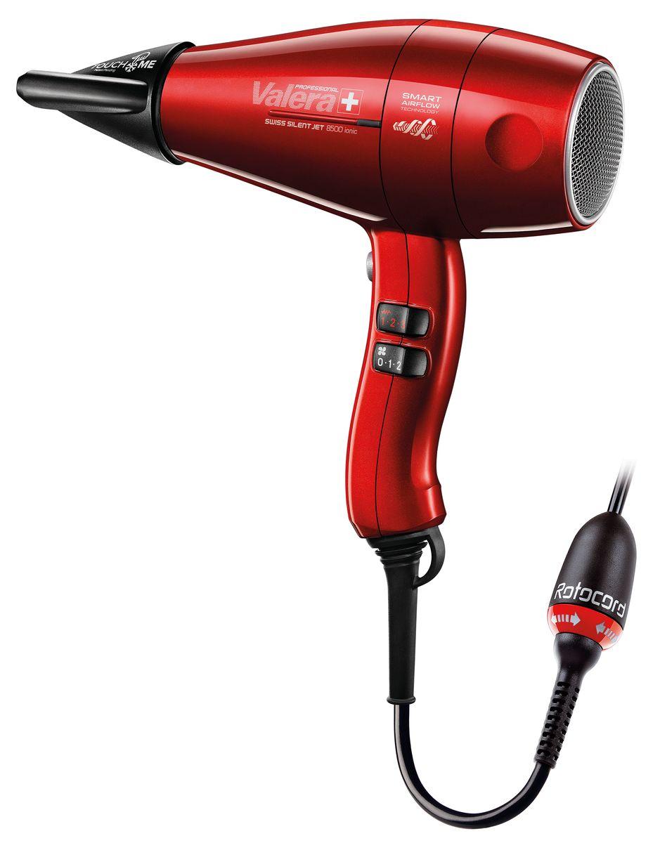 Valera SXJ 8500D RC Swiss Silent Jet, Red профессиональный фенSXJ 8500D RCПрфессиональный фен, мощность 2000 Вт, 6 режимов температуры/скорости воздушного потока, ультратонкая насадка-концентратор, насадка Touch Me, насадка - диффузор, долговечный мотор переменного тока, легкий - 555 гр. без учета кабеля,сверхгибкий кабель питания с креплением Rotocord, длина: 3 м, производство Швейцария