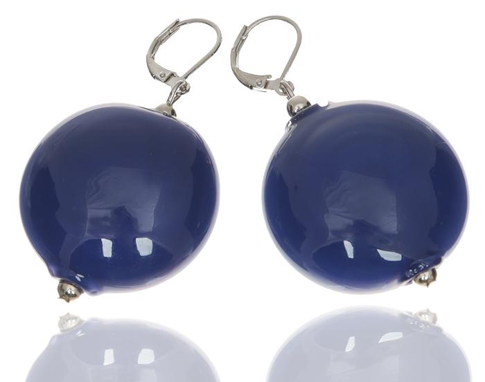 Серьги Монпансье. Муранское стекло синего цвета, бижутерный сплав серебряного тона, ручная работа. Murano, Италия (Венеция)f704f806Серьги Монпансье. Муранское стекло синего цвета, бижутерный сплав серебряного тона, ручная работа. Murano, Италия (Венеция). Размер: 5 х 3 см. Каждое изделие из муранского стекла уникально и может незначительно отличаться от того, что вы видите на фотографии.