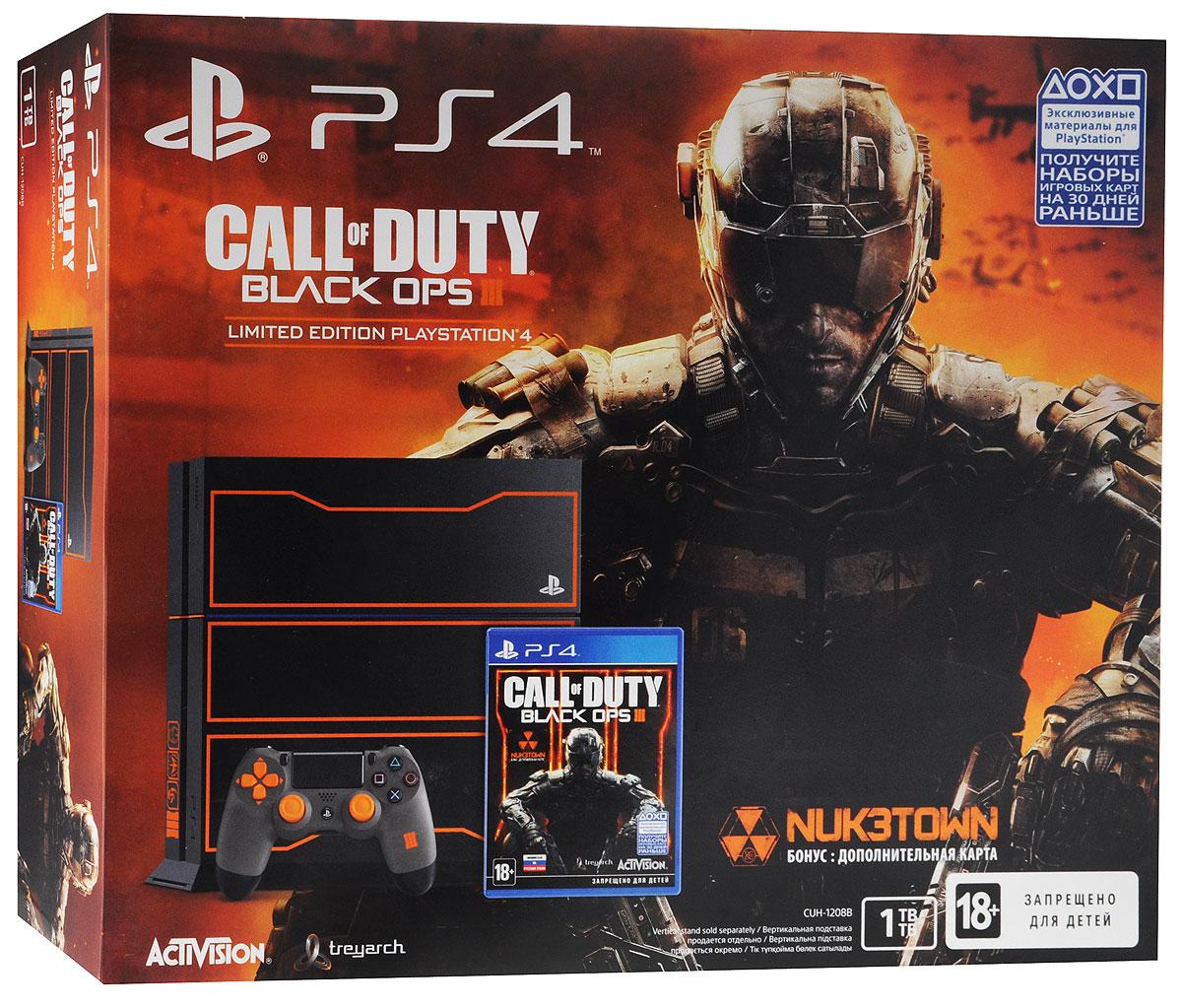 Игровая приставка Sony PlayStation 4 (1 TB) + игра Call of Duty:Black OPS 3 Special Edition