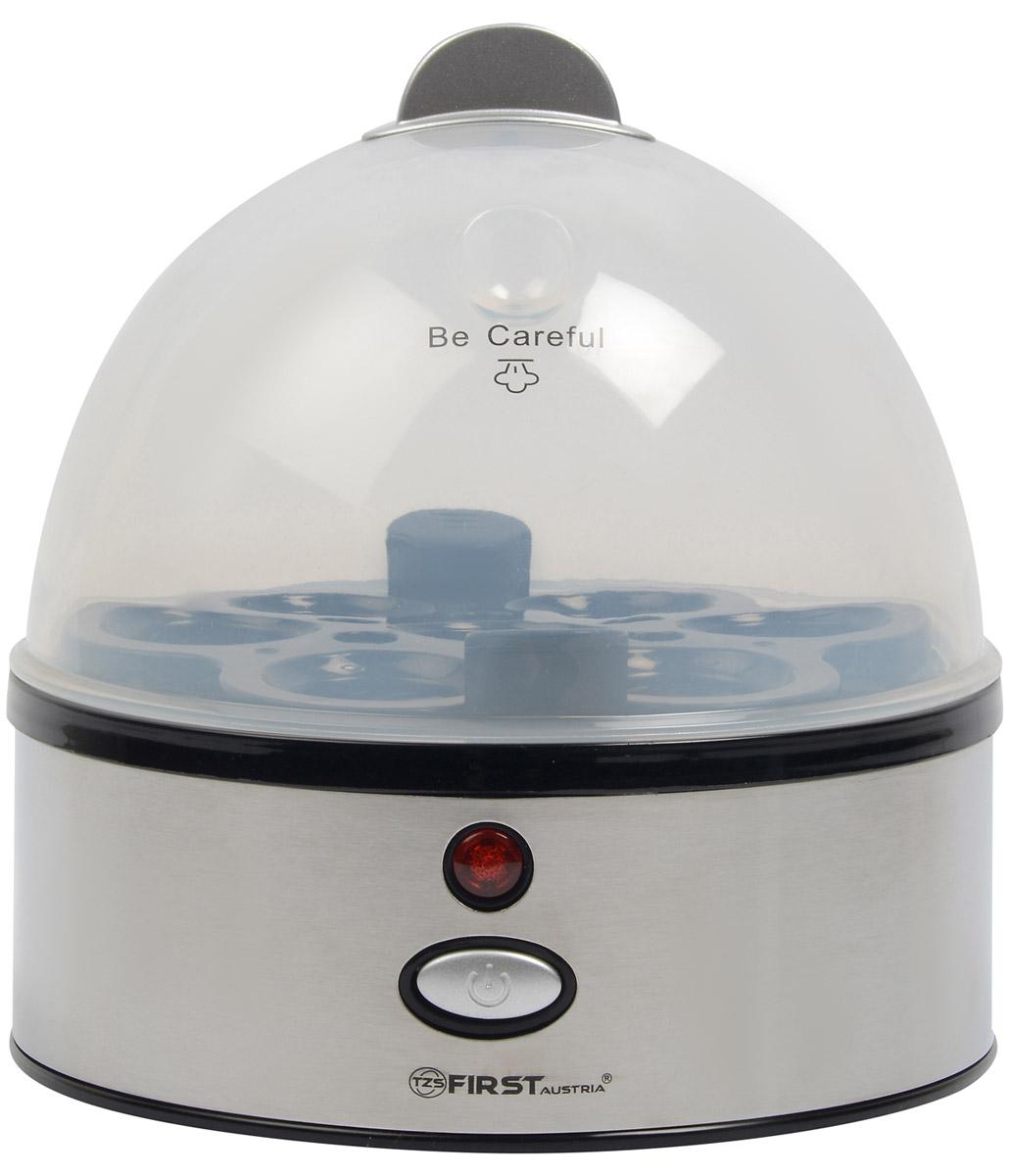 First FA-5115-1, Black яйцеваркаFA-5115-1 BlackFirst FA-5115-1 - компактная яйцеварка, которая позволит готовить яйца на пару. При этом используется минимальное количество воды. Каждое яйцо (максимум 7 штук) помещается в свое гнездышко, поэтому яйца не соприкасаются друг с другом, а, значит, не трескаются и не вытекают. Также имеется функция автовыключения и сигнал об окончании готовки.