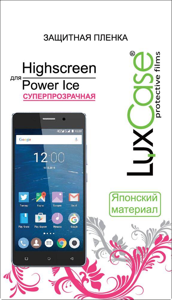 LuxCase защитная пленка для Highscreen Power Ice, суперпрозрачная51551Защитная пленка LuxCase для сохраняет экран смартфона гладким и предотвращает появление на нем царапин и потертостей. Структура пленки позволяет ей плотно удерживаться без помощи клеевых составов и выравнивать поверхность при небольших механических воздействиях. Пленка практически незаметна на экране смартфона и сохраняет все характеристики цветопередачи и чувствительности сенсора.