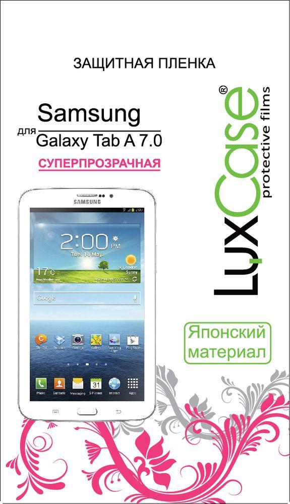 LuxCase защитная пленка для Samsung Galaxy Tab A 7.0, суперпрозрачная52560Защитная пленка LuxCase для сохраняет экран смартфона гладким и предотвращает появление на нем царапин и потертостей. Структура пленки позволяет ей плотно удерживаться без помощи клеевых составов и выравнивать поверхность при небольших механических воздействиях. Пленка практически незаметна на экране смартфона и сохраняет все характеристики цветопередачи и чувствительности сенсора.