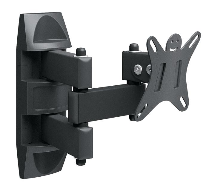 Holder LCDS-5039M, Metallic кронштейн для ТВLCDS-5039M, металликКрепление для ТВ и мониторов Holder LCDS-5039 – настенный универсальный кронштейн, обладающий возможностью наклонно-поворотной регулировки.